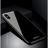 Black Luxury Hybrid Tempered Glass Case for iPhone